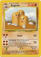 Dugtrio Rare Pokemon Card Base Set Unlimited English 19/102