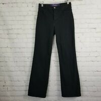 Not Your Daughters Jeans NYDJ Womens Black Size 4 Petite Stretch Bootcut P400B