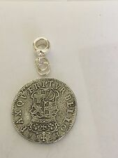 Oliver Cromwell Shilling Coin WC55 Charm 5mm Hole fit Pendant Charm Bracelet