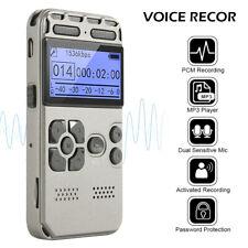 USB Diktiergerät lcdDigital Audio Voice Recorder Aufnahmegerät Sprachaufnahme DE