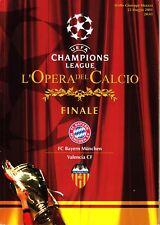 Programmheft Champions League Finale 2001 Mailand: Bayern München - FC Valencia