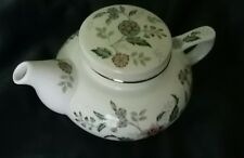 TEAPOT Andrea by Sadek JAPAN w Lid 2-qts. Ceramic floral white gold Collectible