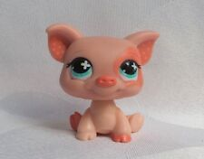 LITTLEST PETSHOP LPS #622 HASBRO PIG COCHON ROSE SAUMON TACHE A L'OEIL YEUX VERT