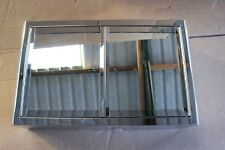 Stainless Steel 50cm Double Mirror Door Wall Cabinet - Damaged - Sold to Clear