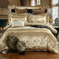 Luxury Floral Print Duvet Cover Pillowcase Set Bed Quilt Cover for Comforter