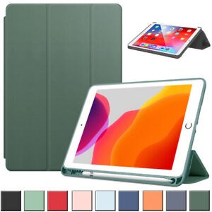 """Smart Leather Stand Pen Slot Case Cover For iPad 7th 8th 10.2"""" 9.7 10.9"""" 11 12.9"""
