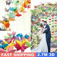 3D Paper Butterfly Hanging Garland Bunting Banner Wedding Party Home Decor - Dr