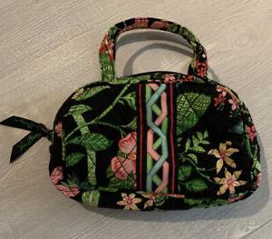 Vera Bradley Botanica Floral Purse Cosmetic Makeup Bag Coin Case Retired