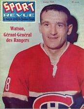 1960 (Jan.) Sport Revue, Hockey magazine, Marcel Bonin, Montreal Canadiens ~ Gd
