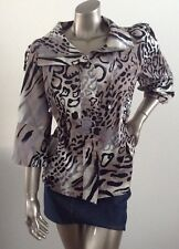 BRAND NEW Noni B animal print jacket / coat cotton spandex material size Large