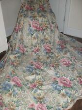 EXTRA WIDE LARGE 2 X PAIR TRUE VINTAGE ROSE CURTAINS QUALITY 100% COTTON FABRIC