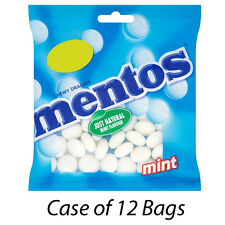 MENTOS MINT CHEWY DRAGEES SWEETS BAGS x 12 PACKETS KIDS TREATS WHOLESALE 153275