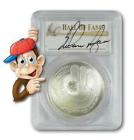 2014-P Baseball HOF Silver $1 -- PCGS MS70 -- Hand Signed By Nolan Ryan