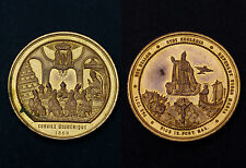 """Médaille Papale 1869 """"Concile Œcuménique"""" Pius IX°. Bronze doré"""