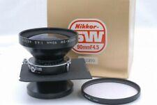 Exc Nikon Nikkor SW 90mm f/4.5 f 4.5 Lens *682390