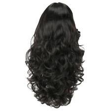 24'' Perruque Femmes Noire Longue Naturelle Ondulée en Vague Synthétique