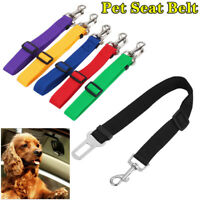 Adjustable Pet Seat Belt Dog Safety Car Vehicle  Harness Lead Pet Seatbelt Nylon
