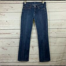 7 For All Mankind Sz 25(0) Straight Leg Jeans Dark Wash