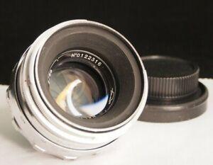 """HELIOS 44, KMZ, """"Silver"""",  """"White"""", 2/58, M39 (Zenit), 13 aperture blades. 1960"""