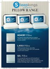 2xMemory Foam Pillows | Latex 100% Breathable Natural Pillows | Cool Gel Pillows