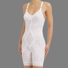 Rago Shapewear Long Leg Lacette White Body Briefer Size 46 Multiple Cup Sizes