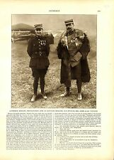 WWI Sergent Georges Guynemer & Capitaine Brocard Aviation Verdun ILLUSTRATION
