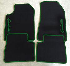 Autoteppich Fußmatten für Alfa Romeo Giulietta Schrift/grün Seite 4tlg Neuware