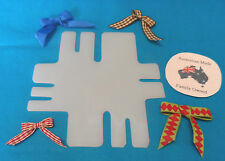 BOW MAKER Plastic Template - Makes 7 Different Sized Bows - Free Post
