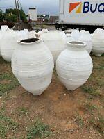 Large White Olive Jars from Turkey,  Odemis Urns Terracotta Jars/Planters