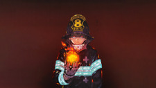Anime  Fire Force Silk Poster 24 X 14 inch Wallpaper