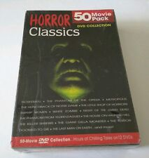 Horror Classics 50 Movie Pack (DVD, 2004, 12-Disc Set) *HOURS OF CHILLING TALES*