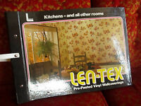 Vintage 1970 Retro Groovy Mod Wallpaper Floral Salesman Sample Book LEN-TEX