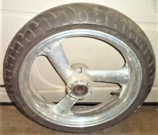 '92 FZR1000 FZR 1000 FRONT WHEEL & TIRE REAL CHROME NOT JUST POLISHED YAMAHA