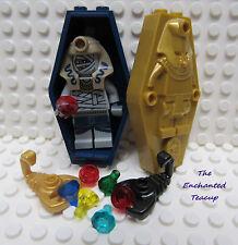 Lego Mummy with Coffin Scorpions Jewels Treasure - New