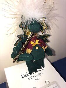 """4"""" Deb Canham Artist Limited Dragon Plush """"Poinsetta"""" Horn W/ COA & Box 8/60"""