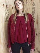 NWOT Authentic DAMIR DOMA SILENT 100% Cotton BOMBER Jacket S