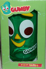 Gumby Art Clokey Claymation Cartoon Drinking Drink Glass Xmas Gift Collectible