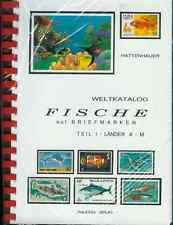 Hattenhauer Weltkatalog Fische auf Briefmarken 2 Bände NEU 2. Auflage 1997