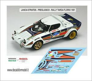 DECALS 1/43 LANCIA STRATOS PREGLIASCO RALLY  TARGA FLORIO 1981