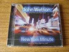 CD Album: John Wetton : New York Minute : Live 2013 Sealed : Crimson, Heep, Asia