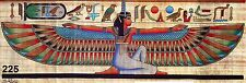 "Egyptian,Pharaonic,Papyrus Paint size M 30x80 cm(12""x32"")#225,Isis With Alphabet"