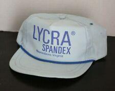 Vintage LYCRA SPANDEX Hat Factory Plant Waynesboro Virginia 80s Blue MADE USA