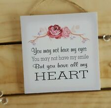 Handmade plaque sign gift present step mum step daughter quote phrase floral