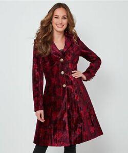 Joe Browns WJ286A Remarkable Velvet Coat Berry Size 10