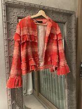 Zara red fringe Jacket Size M