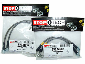 Stoptech Stainless Steel Braided Brake Lines (Front & Rear Set / 44010+44507)