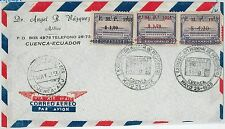 63320-Ecuador-STORIA POSTALE-SC C93-C96 su FDC COVER 1942-Rio delle Amazzoni