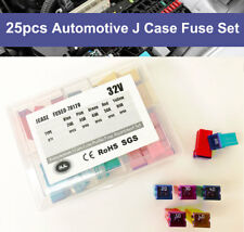 25 Pcs Automotive J Case Low Profile Fuse Assortment Set 32V 20A 30A 40A 50A 60A