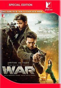 WAR - ORIGINAL BOLLYWOOD HINDI DVD [& FREE CD] ( ALL REGIONS ENGLISH SUBTITLES)