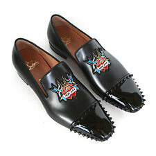 5af56f79c14 Christian Louboutin Mens Studded Captain Daddy Loafers Spike Stud Shoes 41 8